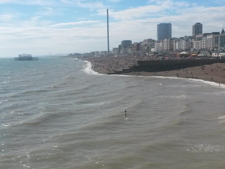 Esses vários pontinhos são pessoas no sábado dia 16/07 na praia!